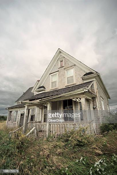 Abandoned wooden house.