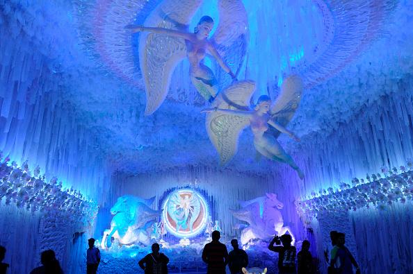 Abasar Club Durga Puja on October 5 2016 in Kolkata India