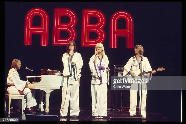 Abba 1977 on Midnight Special at the Music File Photos 1970's in Burbank California