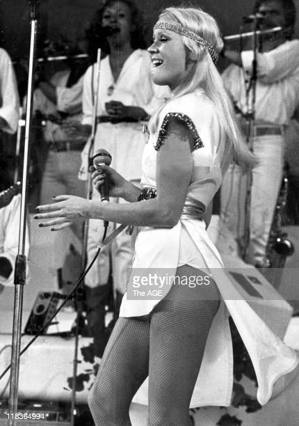 Abba in concert at the Myer music bowl in Melbourne March 1977