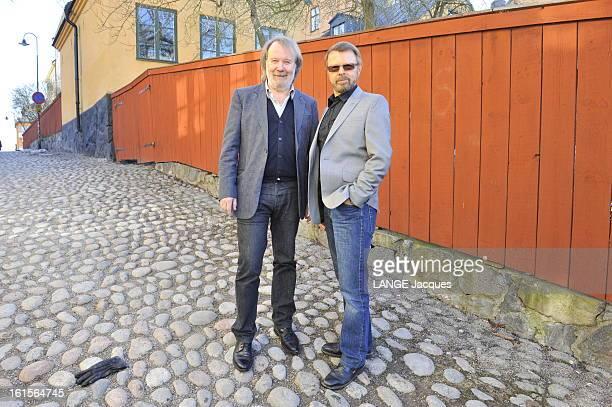 Abba Rendezvous With Benny Andersson And Bjorn Ulvaeus Stockholm 30 mars 2010 28 ans après la séparation du groupe ABBA Benny ANDERSSON et Björn...