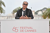 Abbas Kiarastami at the photo call for 'Like Someone in Love' during the 65th Cannes International Film Festival