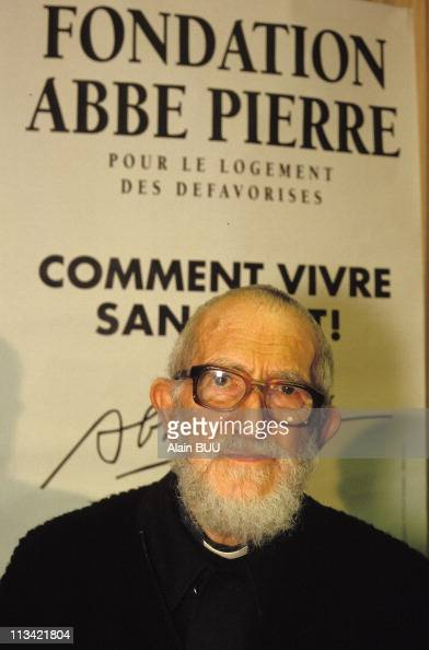 Abbe Pierre'S Press Conference About Housing On February 24th 1993