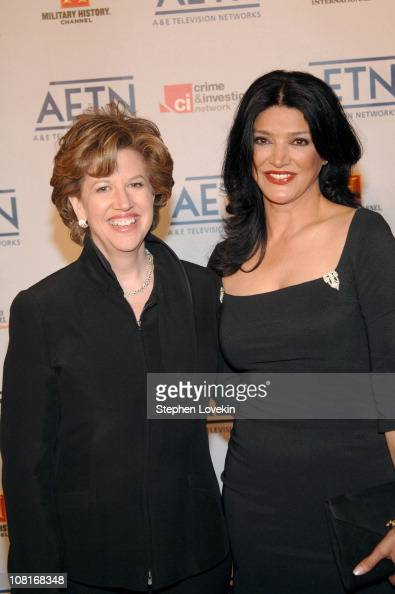 Abbe Raven and Shohreh Aghdashloo during 2005/2006 AE Television Networks UpFront Arrivals at Sea Grill Rockefeller Center in New York City New York...