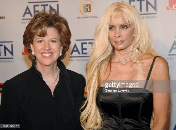 Abbe Raven and Victoria Gotti during 2005/2006 AE Television Networks UpFront Arrivals at Sea Grill Rockefeller Center in New York City New York...