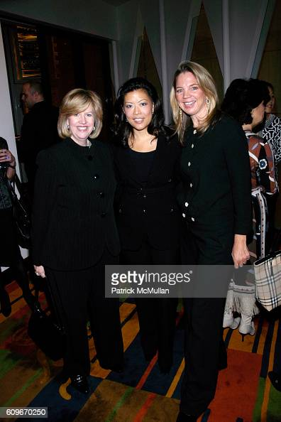 Abbe Raven Andrea Wong and CeCe Coffin attend La Mer luncheon in honor of Andrea Wong at Le Cirque on December 13 2007 in New York City