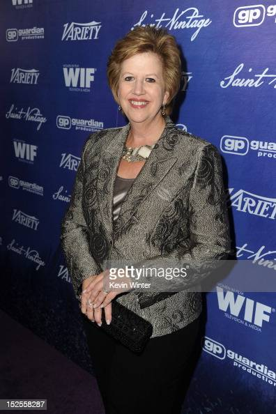 Abbe Raven President and CEO of AETN arrives at Variety and Women in Film PreEMMY Event presented by Saint Vintage at Scarpetta Beverly Hills on...