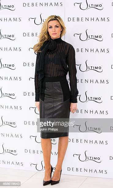 Abbey Clancy Abbey Clancy launches the new Ultimo Valentines Collection at Debenhams on February 11 2014 in London England