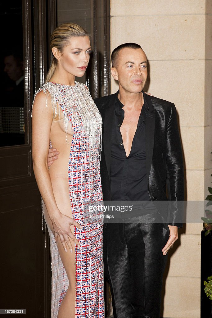 Abbey Clancy and Julien Macdonald attends Fashion for the Brave in support of the British Forces at war at The Dorchester on November 8, 2013 in London, England.