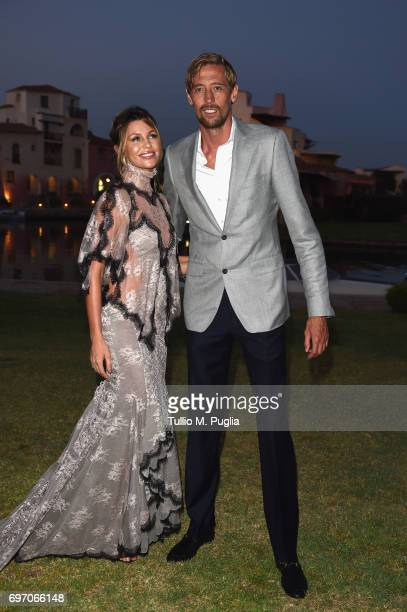 Abbey Clancy and Peter Crouch attend The Costa Smeralda Invitational Gala Dinner at Cala di Volpe Hotel Costa Smeralda on June 17 2017 in Olbia Italy