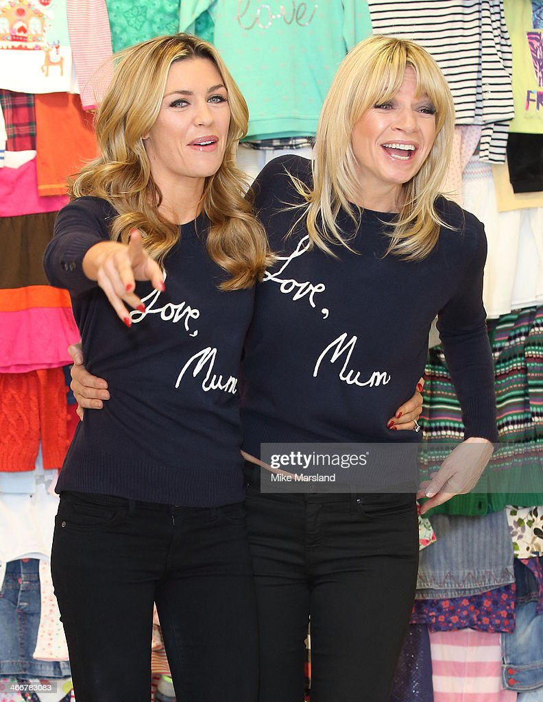 Abbey Clancy and <a gi-track='captionPersonalityLinkClicked' href=/galleries/search?phrase=Zoe+Ball&family=editorial&specificpeople=216374 ng-click='$event.stopPropagation()'>Zoe Ball</a> attend a photocall to launch the M&S 'Love, Mum' shwopping campaign in conjunction with Oxfam at Marks & Spencer Marble Arch on February 4, 2014 in London, England.