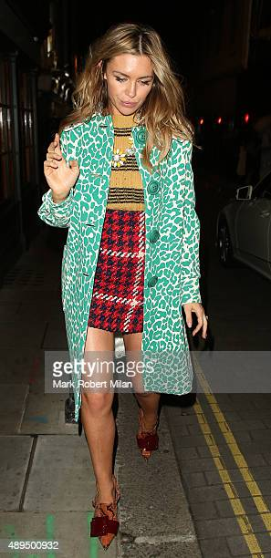 Abbey Clancy at Lou Lou's club on September 21 2015 in London England