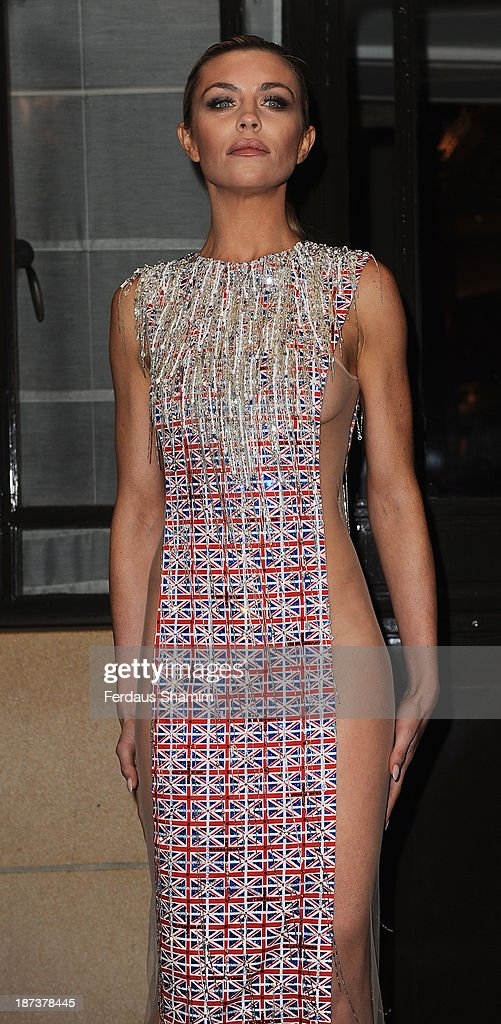 Abbey Clancy attends Fashion for the Brave in support of the British Forces at war at The Dorchester on November 8, 2013 in London, England.
