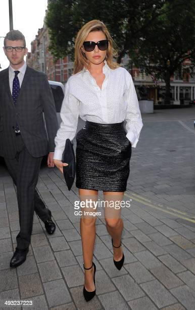 Abbey Clancy attends Gina 60th anniversary party at their Mayfair store on May 22 2014 in London England