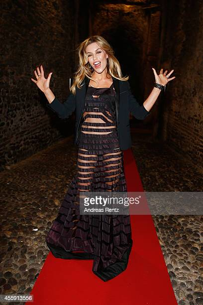 Abbey Clancy attends Intimissimi on Ice OperaPop at the Arena di Verona on September 20 2014 in Verona Italy The world diverted their eyes away from...