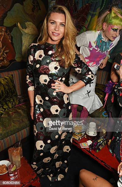 Abbey Clancy attends LOVE Magazine and Marc Jacobs LFW Party to celebrate LOVE 165 collector's issue of LOVE and Berlin 1989 at Loulou's on September...