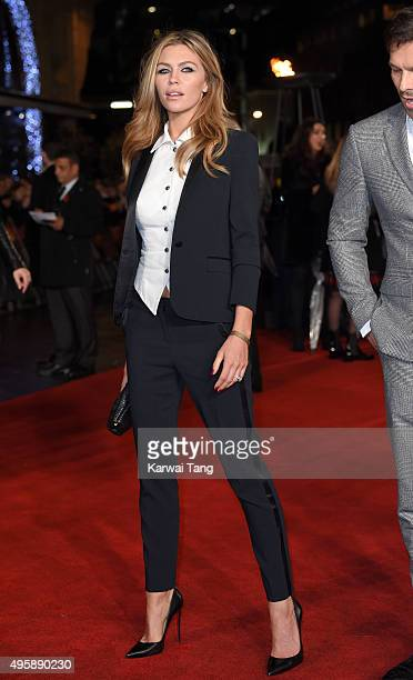Abbey Clancy attends The Hunger Games Mockingjay Part 2 UK Premiere at Odeon Leicester Square on November 5 2015 in London England