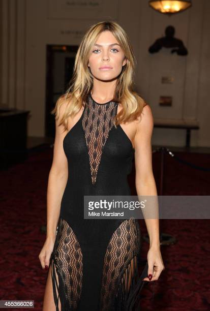 Abbey Clancy attends the Julien Macdonald show during London Fashion Week Spring Summer 2015 on September 13 2014 in London England