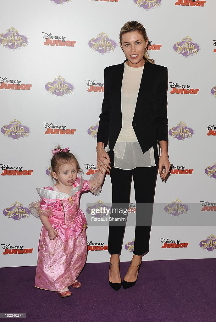 Abbey Clancy attends the launch screening of Sofia the First at May Fair Hotel on February 22, 2013 in London, England.