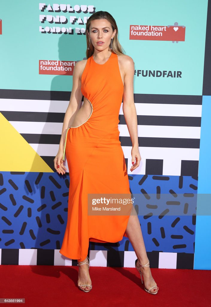 Abbey Clancy attends The Naked Heart Foundation's London's Fabulous Fund Fair on February 21, 2017 in London, United Kingdom.