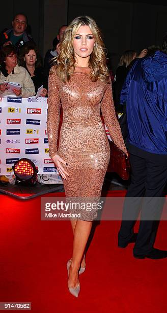 Abbey Clancy attends the Pride Of Britain Awards at Grosvenor House on October 5 2009 in London England