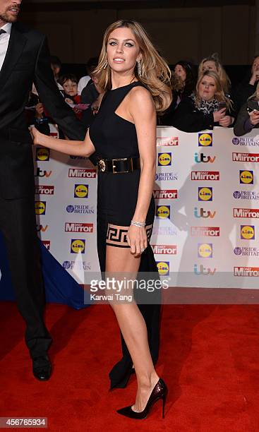 Abbey Clancy attends the Pride of Britain awards at The Grosvenor House Hotel on October 6 2014 in London England