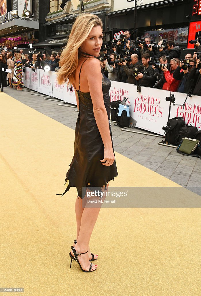 Abbey Clancy attends the World Premiere of 'Absolutely Fabulous: The Movie' at Odeon Leicester Square on June 29, 2016 in London, England.