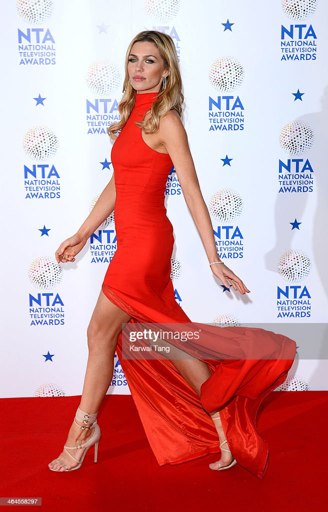 Abbey Clancy poses in the winners room at the National Television Awards at the 02 Arena on January 22, 2014 in London, England.