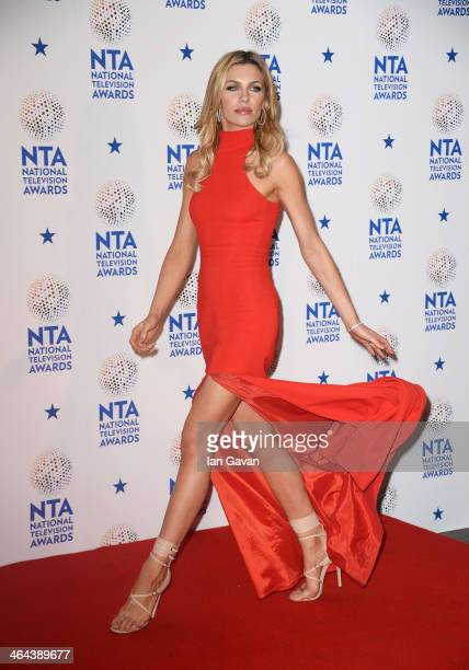Abbey Clancy poses in the winners room during the National Television Awards at 02 Arena on January 22 2014 in London England