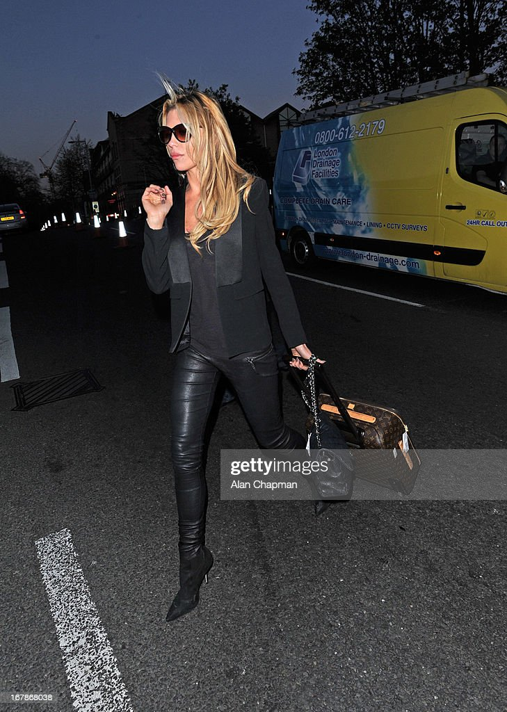 Abbey Clancy sighting leaving the Jam Tree pub on Kings Road on May 1, 2013 in London, England.