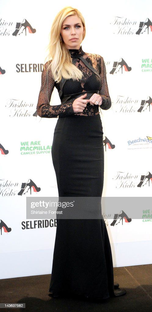 Abbey Crouch attends Fashion Kicks in aid of Macmillan Cancer Support Beechwood Cancer Care Centre Stockport and the Chefs Adopt a School Project at...