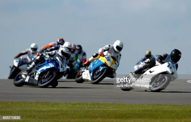 Abbey Feal's Paul Greaney leads the pack during race 1 of the MotoSix 600 Six Nations Championship at Donington Park Castle Donington