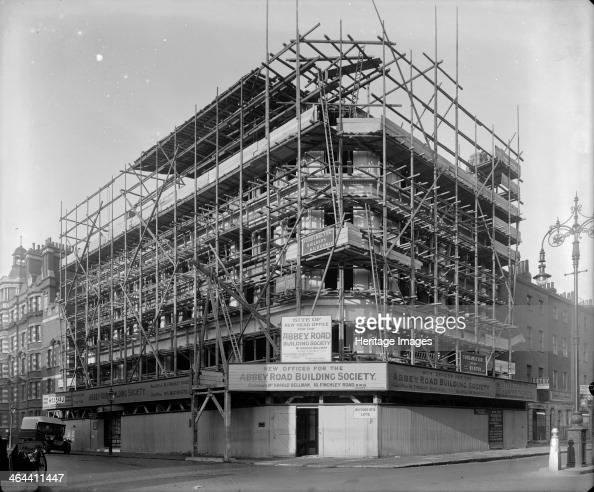 Abbey House Upper Baker Street Westminster London 1927 It is under construction as the new head office for the Abbey Road Building Society The main...
