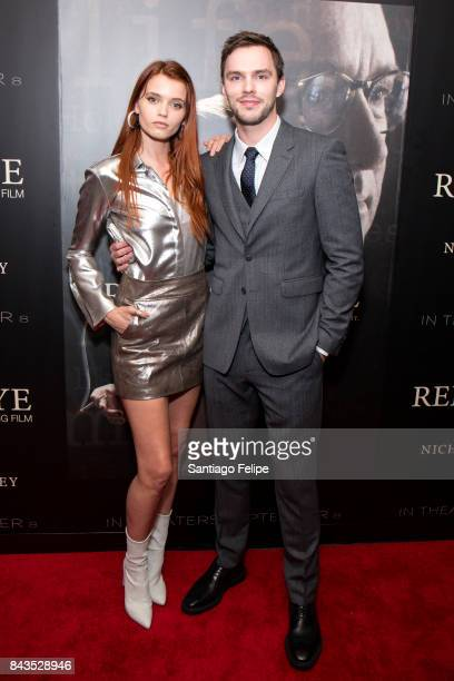 Abbey Lee and Nicholas Hoult attend 'Rebel In The Rye' New York premiere at Metrograph on September 6 2017 in New York City
