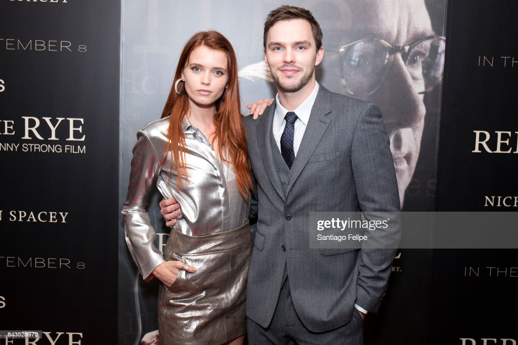 Abbey Lee and Nicholas Hoult attend 'Rebel In The Rye' New York premiere at Metrograph on September 6, 2017 in New York City.