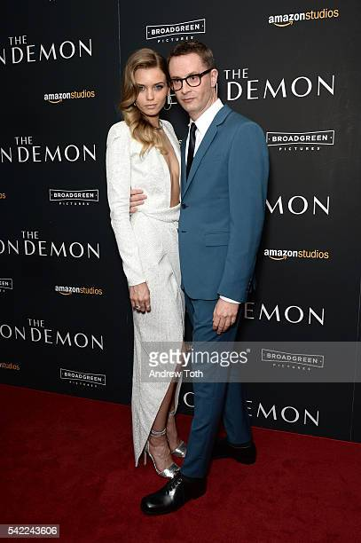 Abbey Lee and Nicolas Winding Refn attend the 'The Neon Demon' New York premiere at Metrograph on June 22 2016 in New York City