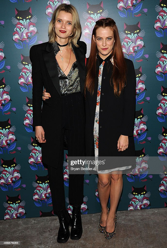 Abbey Lee Kershaw and Riley Keough attend Miu Miu Women's Tales 7th Edition - 'Spark & Light' Screening - Arrivals at Diamond Horseshoe on February 11, 2014 in New York City.