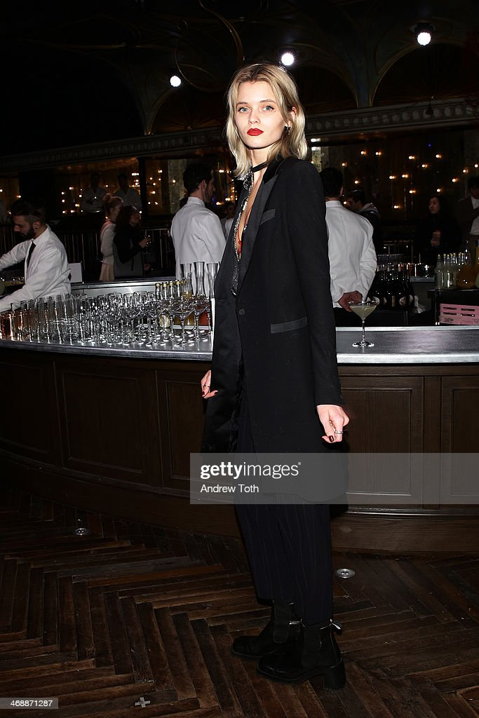 <a gi-track='captionPersonalityLinkClicked' href=/galleries/search?phrase=Abbey+Lee+Kershaw&family=editorial&specificpeople=5561868 ng-click='$event.stopPropagation()'>Abbey Lee Kershaw</a>, attends Miu Miu Women's Tales 7th Edition - 'Spark & Light' Screening - Inside at Diamond Horseshoe on February 11, 2014 in New York City.