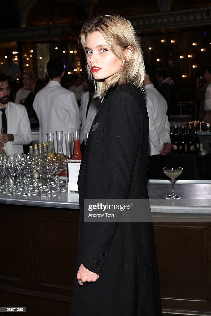 Abbey Lee Kershaw, attends Miu Miu Women's Tales 7th Edition - 'Spark & Light' Screening - Inside at Diamond Horseshoe on February 11, 2014 in New York City.