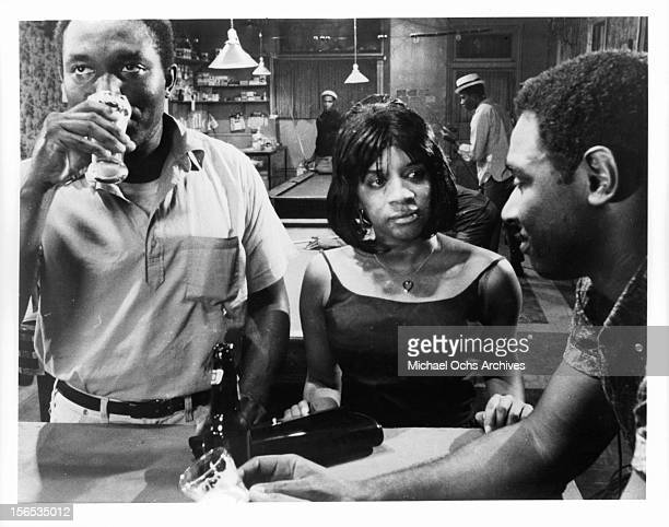 Abbey Lincoln at a bar with Ivan Dixon in a scene from the film 'Nothing But A Man' 1964