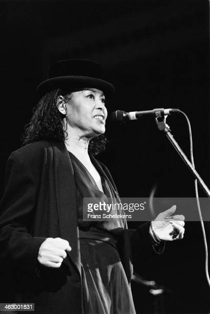 Abbey Lincoln vocal performs during Drum Jazz Festival at Carre on 7th July 1990 in Amsterdam the Netherlands
