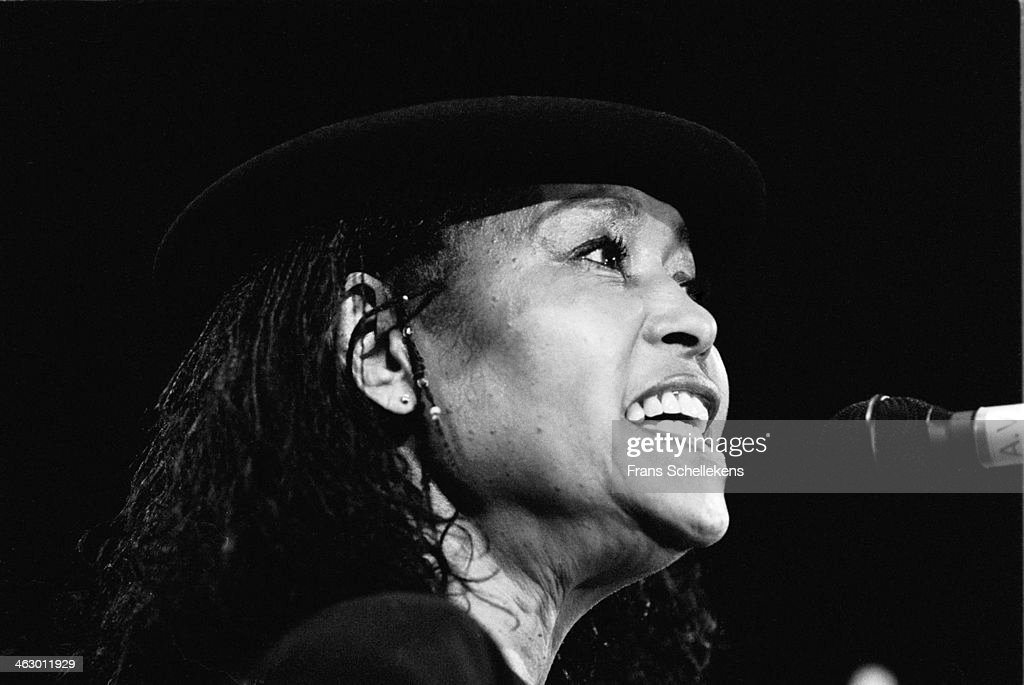 Abbey Lincoln, vocal, performs during Drum Jazz Festival at Carre on 7th July 1990 in Amsterdam, the Netherlands.