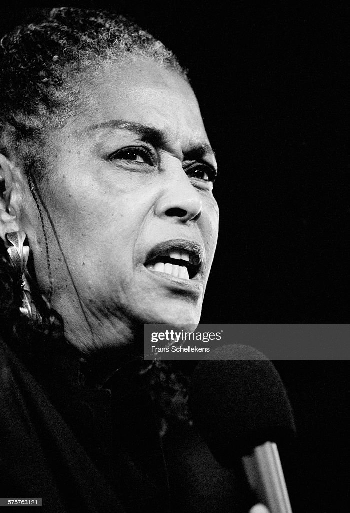 Abbey Lincoln, vocal, performs on July 16th 1995 at the North Sea Jazz Festival in the Hague, Netherlands.