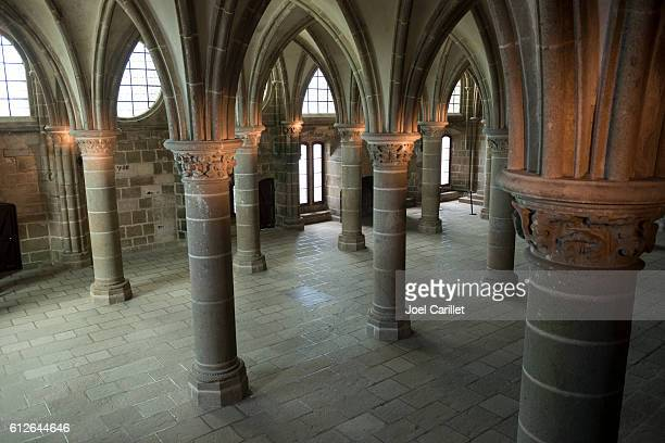 Abbaye de Mont-Saint-Michel en France