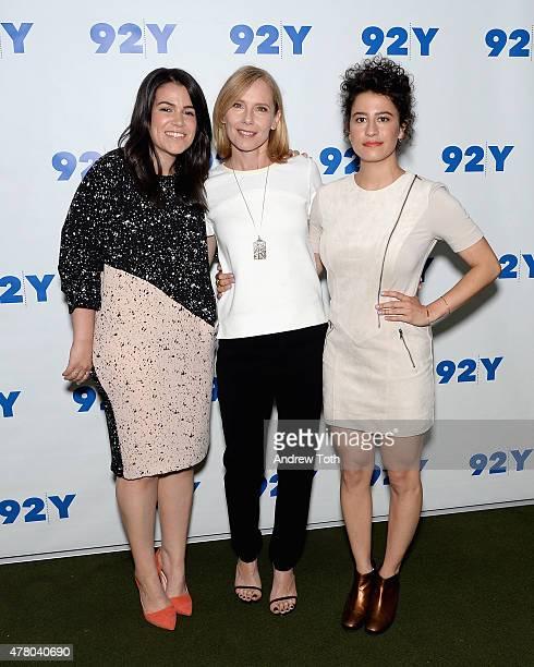 Abbi Jacobson Amy Ryan and Ilana Glazer attend 92nd Street Y Presents Abbi Jacobson and Ilana Glazer In Conversation with Amy Ryan at 92nd Street Y...