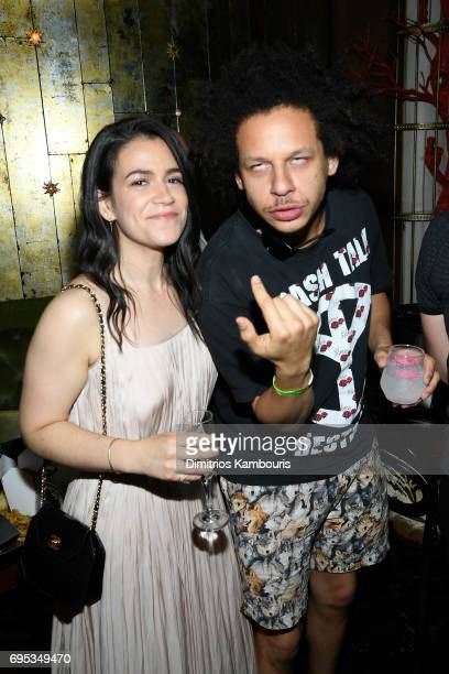 Abbi Jacobson and Eric Andre attend the after party for the 'Rough Night' Premiere at Diamond Horseshoe on June 12 2017 in New York City