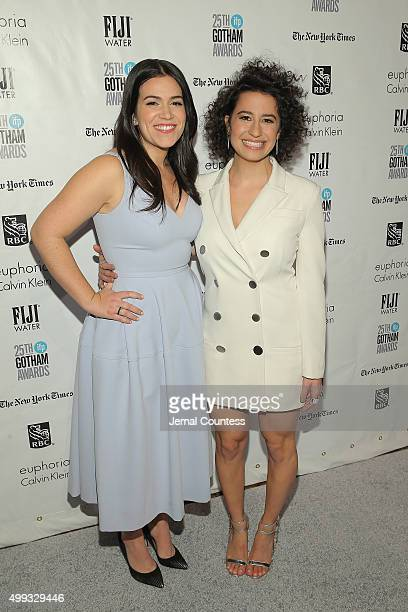 Abbi Jacobson and Ilana Glazer attend the 25th IFP Gotham Independent Film Awards cosponsored by FIJI Water at Cipriani Wall Street on November 30...