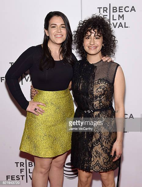 Abbi Jacobson and Ilana Glazer attend the 'Broad City' Screening 2016 Tribeca Film Festival at Festival Hub on April 17 2016 in New York City