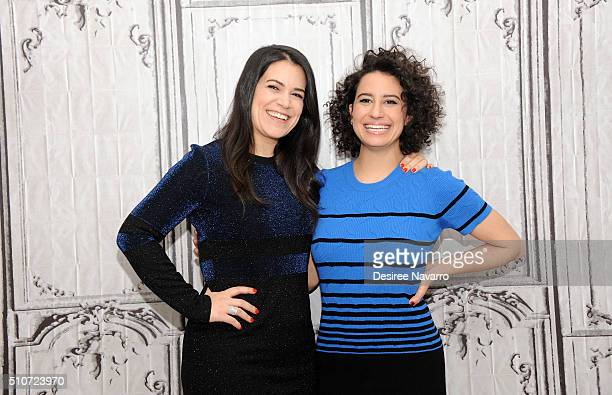 Abbi Jacobson and Ilana Glazer discuss season 3 of their criticallyacclaimed Comedy Central show 'Broad City' during AOL Build Speaker Series at AOL...