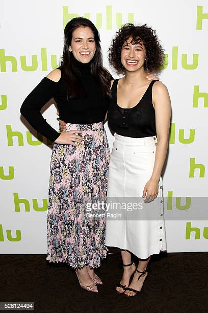 Abbi Jacobson and Ilana Glazer of Broad City attend the 2016 Hulu Upftont on May 04 2016 in New York New York